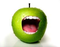 De Mond van de appel Royalty-vrije Stock Foto