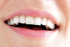 De mond van de gelukkige vrouw Royalty-vrije Stock Foto's