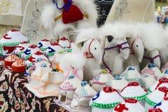 De mongoliska souvenirna från ull Arkivfoton