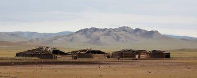 De Mongoolse Gebouwen van het Landbouwbedrijf Royalty-vrije Stock Afbeeldingen