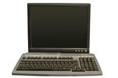 De monitor en het toetsenbord van de computer Stock Afbeeldingen