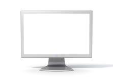 De Monitor van de Bureaucomputer van - Voorzijde Royalty-vrije Stock Afbeelding