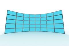 De monitor van de muur Stock Foto