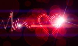 De monitor van het hart Stock Afbeelding