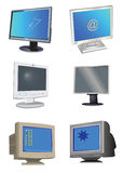 De Monitors van de computer royalty-vrije illustratie