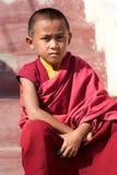 De Monnik van de jongen in Nepal Stock Afbeeldingen