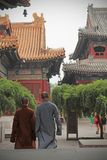 De Monniken in Lama Temple royalty-vrije stock foto's