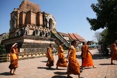 De Monniken van ChingMai Royalty-vrije Stock Afbeeldingen