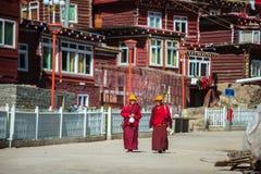De monniken van de Universiteit van Seda Boedha Royalty-vrije Stock Foto