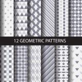 De monoreeks van het kleuren geometrische patroon Royalty-vrije Stock Afbeeldingen
