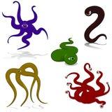 De monsters van de tentakel Stock Foto's