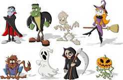 De monsters van Halloween Stock Foto