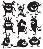 De monsters van silhouetten Royalty-vrije Stock Afbeeldingen