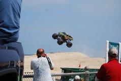 De monstervrachtwagen toont Virginia Beach stock afbeelding