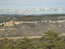 De montainwaaier van Cuenca, Spanje stock foto's