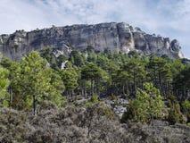 De montainwaaier van Cuenca, Spanje royalty-vrije stock fotografie