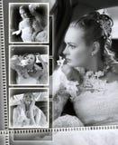 De montering van het het huwelijksalbum van bruiden Royalty-vrije Stock Foto