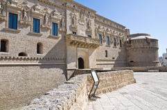 De Monti Castle of Corigliano d'Otranto. Puglia. Italy. Stock Photos