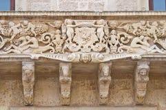 De Monti Castle of Corigliano d'Otranto. Puglia. Italy. Royalty Free Stock Photos
