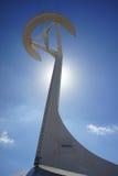 Barselonas symbol av olympic rörelse Royaltyfria Bilder