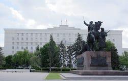 ` De monument d'abord de ` de cavaliers - sculpteur E Vucetich Photo stock