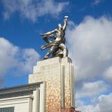 De Monumenten` Arbeider en het Collectieve landbouwbedrijfmeisje `, Moskou, Rusland Stock Foto