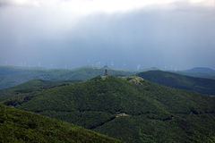 De Monumenten van Buzludzha en Shipka-, Centrale Balkan Berg, Bulgarije Royalty-vrije Stock Afbeeldingen