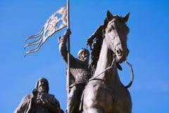 De monumentenprins Vladimir en de Heilige Fyodor, Vladimir-stad, Rusland stock foto