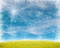 De mooie achtergrond van de sneeuwvlok Royalty-vrije Stock Afbeelding