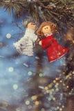 De mooie achtergrond van de wintervieringen Royalty-vrije Stock Afbeeldingen