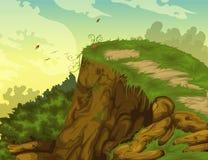 De mooie achtergrond van het Landschap Stock Afbeelding
