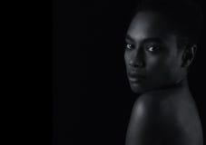 De mooie Amerikaanse Vrouw van Afro Stock Foto