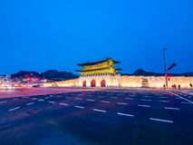 De mooie architectuur bouw van gyeongbokgungpaleis royalty-vrije stock afbeelding