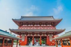 De mooie architectuur tempel van de bouwsensoji is de beroemde plaats voor bezoek op asakusagebied royalty-vrije stock foto's