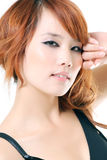 De mooie Aziatische vrouw van de close-up Royalty-vrije Stock Foto