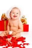 De mooie baby van de Kerstman Stock Afbeelding