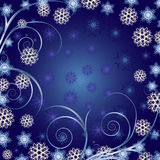 De mooie Blauwe achtergrond van Kerstmis Royalty-vrije Stock Fotografie