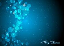 De mooie blauwe achtergrond van Kerstmis Royalty-vrije Stock Afbeeldingen
