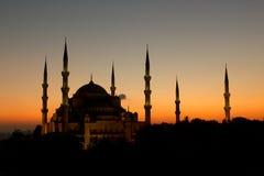 De mooie Blauwe Moskee Stock Afbeeldingen