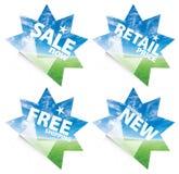 De mooie blauwe stickers van de hemelhorizon Royalty-vrije Stock Afbeelding