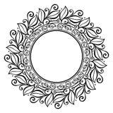 De mooie Bloemencirkel van Deco (Vector) Stock Afbeelding