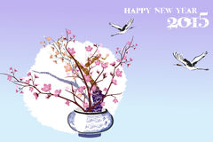 De mooie bloempotachtergrond van oosterling voelt - eps10-illustratie Royalty-vrije Stock Foto's