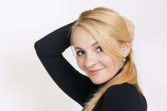De mooie blonde. royalty-vrije stock afbeelding