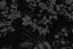 De mooie boomvogel en van de bloemenkunst schilderijen kleuren de witte en zwarte achtergrond en het behang van het illustratiepa stock illustratie