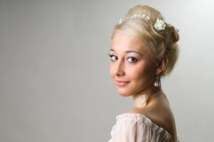 De mooie bruid Stock Afbeeldingen