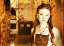 De mooie bruid van Grunge Stock Foto's