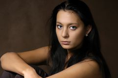 De mooie brunette Stock Foto