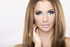 De mooie brunette van het portret Royalty-vrije Stock Fotografie