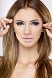 De mooie brunette van het portret Royalty-vrije Stock Afbeelding