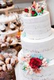 De mooie Cake van het Huwelijk Royalty-vrije Stock Fotografie